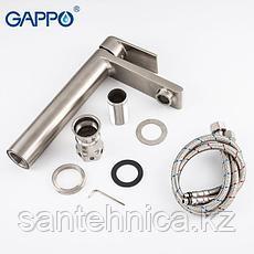 Смеситель для раковины Gappo G1099-22 сатин, фото 3