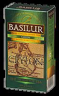 Чай зелёный пакетированный Остров Цейлон  Зеленый Green, 25пак Basilur
