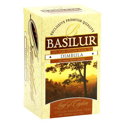 Чай черный пакетированный Лист Цейлона Димбула  Dimbula, 20пак Basilur