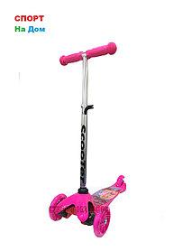 Детский самокат на 3-х колесах (серия Барби)