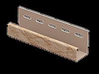 J-планка Стоун-хаус Камень ЗОЛОТИСТЫЙ, Длина 3050 мм, фото 1