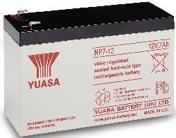 Yuasa NP7-12 Lead Acid Battery - 12V, 7Ah
