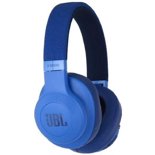 Беспроводные накладные наушники закрытого типа JBL E55BT (Blue)