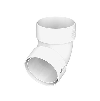 Колено трубы 85 GIZA (Белый) 87°