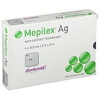 MEPILEX Ag (Мепилекс с ионами серебра) - 20cm*50cm - абсорбирующая повязка из мягкого силикона.