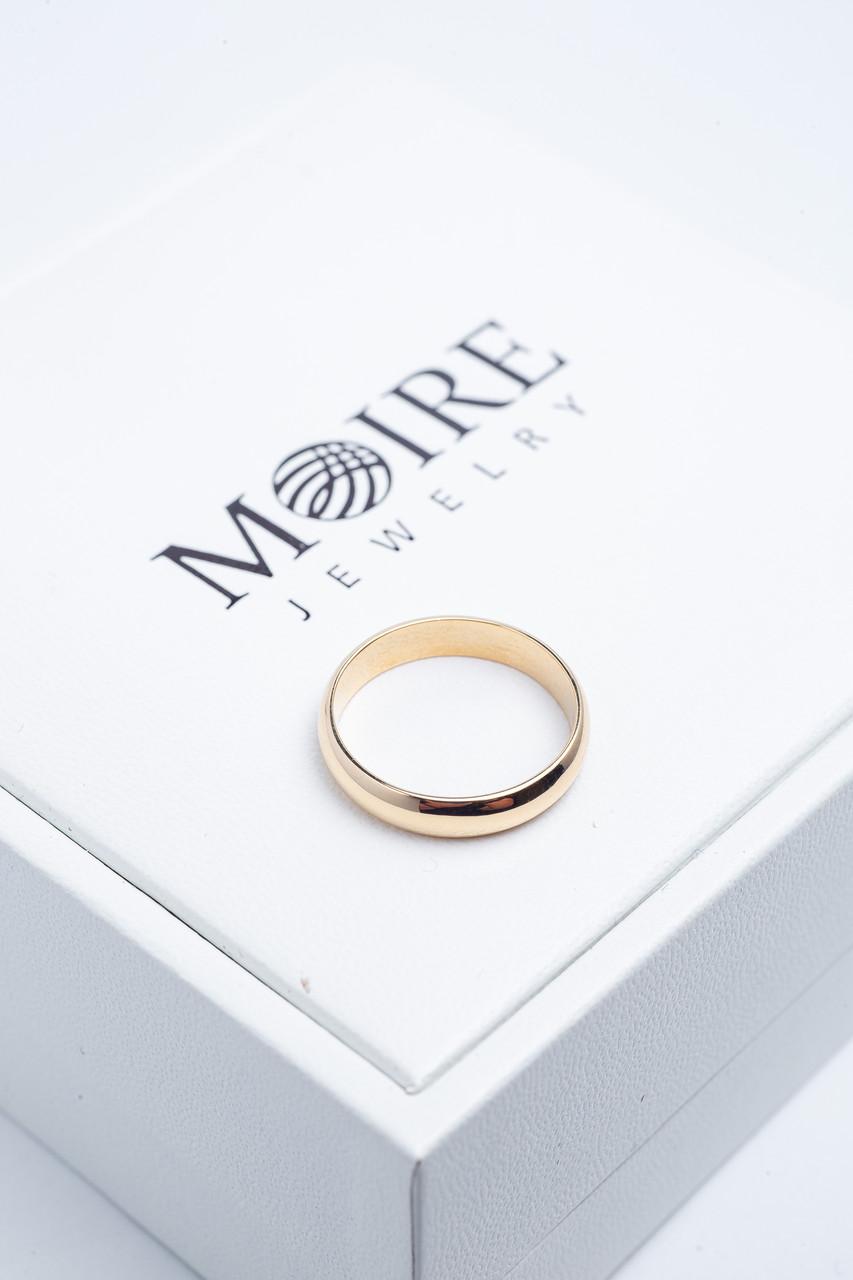 Россия Золотое обручальное кольцо из красного золота 585 пробы - фото 2