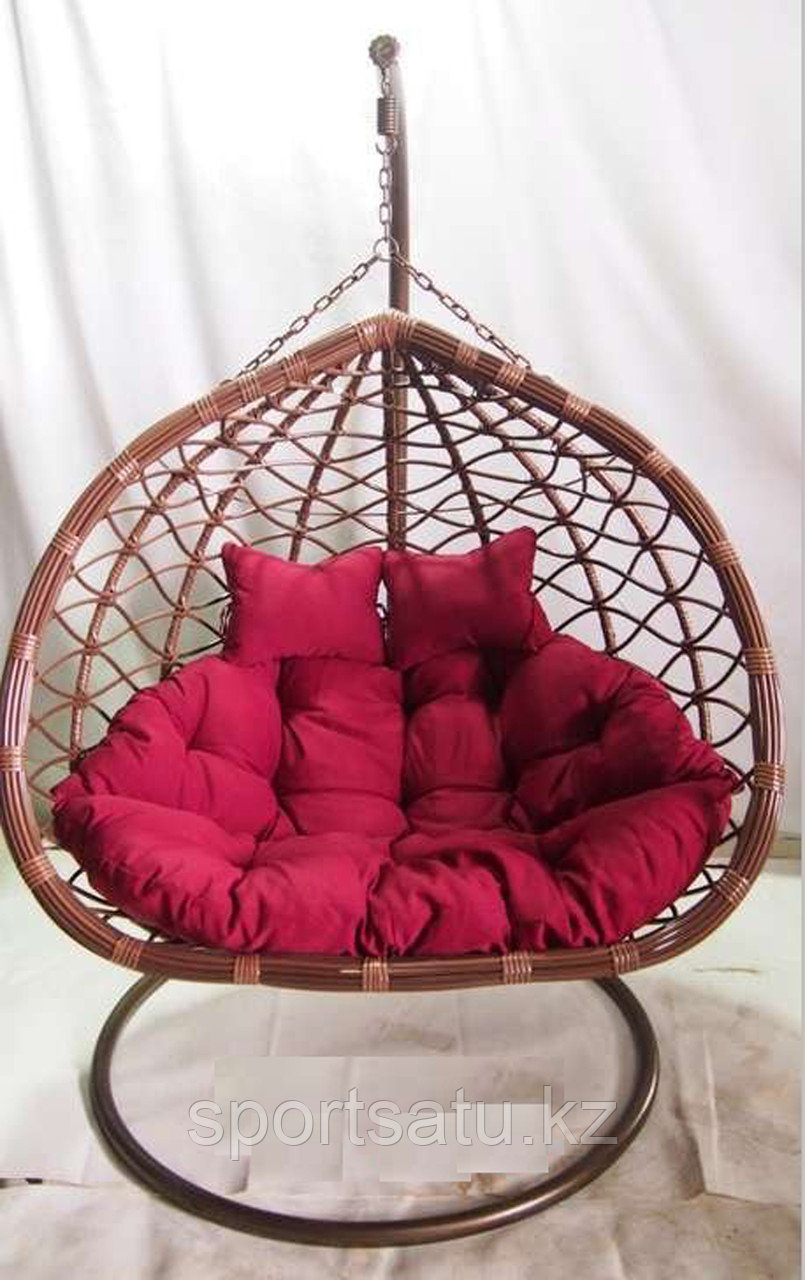 Двухместное кресло гнездо, подвесные качели для сада