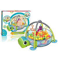 Развивающий коврик-манеж Activity gym and ball pit c шариками