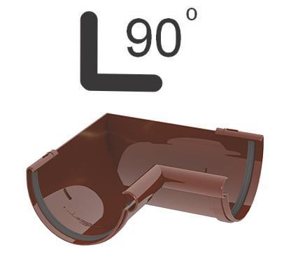 УГОЛ ЖЕЛОБА ВНУТРЕННИЙ 90° 120 мм GIZA (КОРИЧНЕВЫЙ)