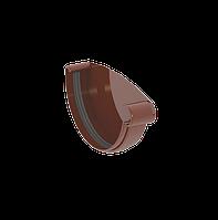 ЗАГЛУШКА ЖЕЛОБА ПРАВАЯ 120 мм GIZA (КОРИЧНЕВАЯ)