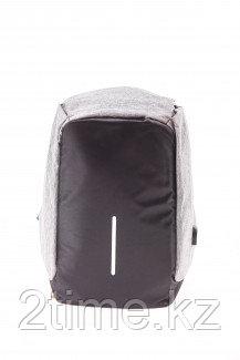 """Рюкзак Continent BP-500 Black/Grey, рюкзак для 16"""", чёрно-серый (анти-вор Bobby style)"""