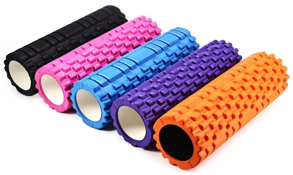 Роллер (валик) массажный для фитнеса и йоги  60см