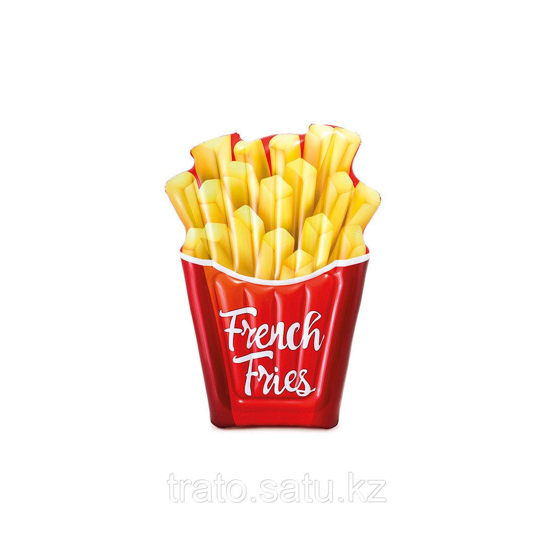 Надувной пляжный матрас French Fries 175х132 см Intex