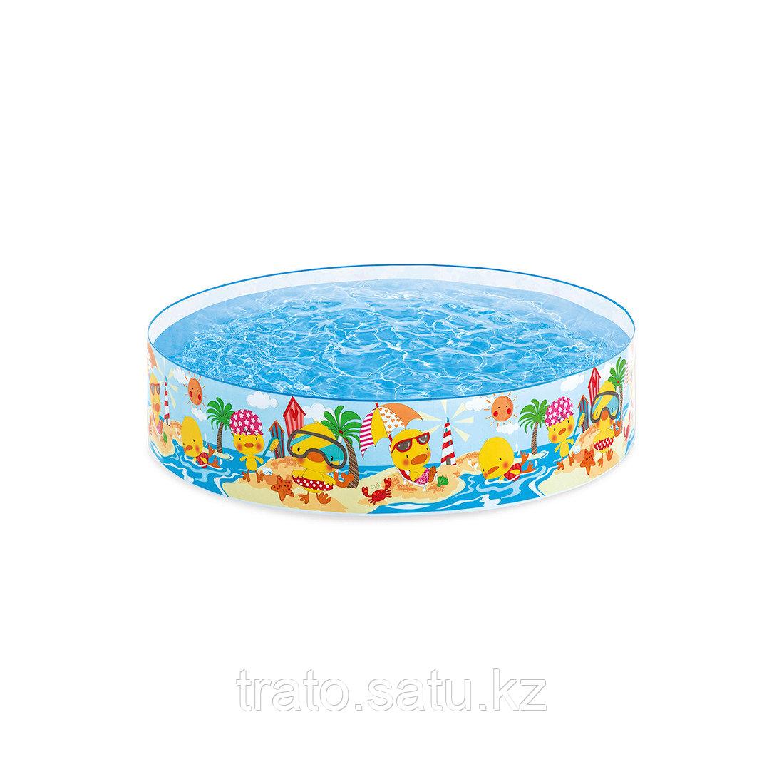 Детский бассейн с жёсткой стенкой 183 х 38 см INTEX