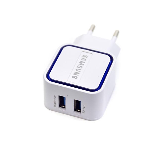 Сетевой адаптер Samsung Copy, 2x USB, Fast Charge