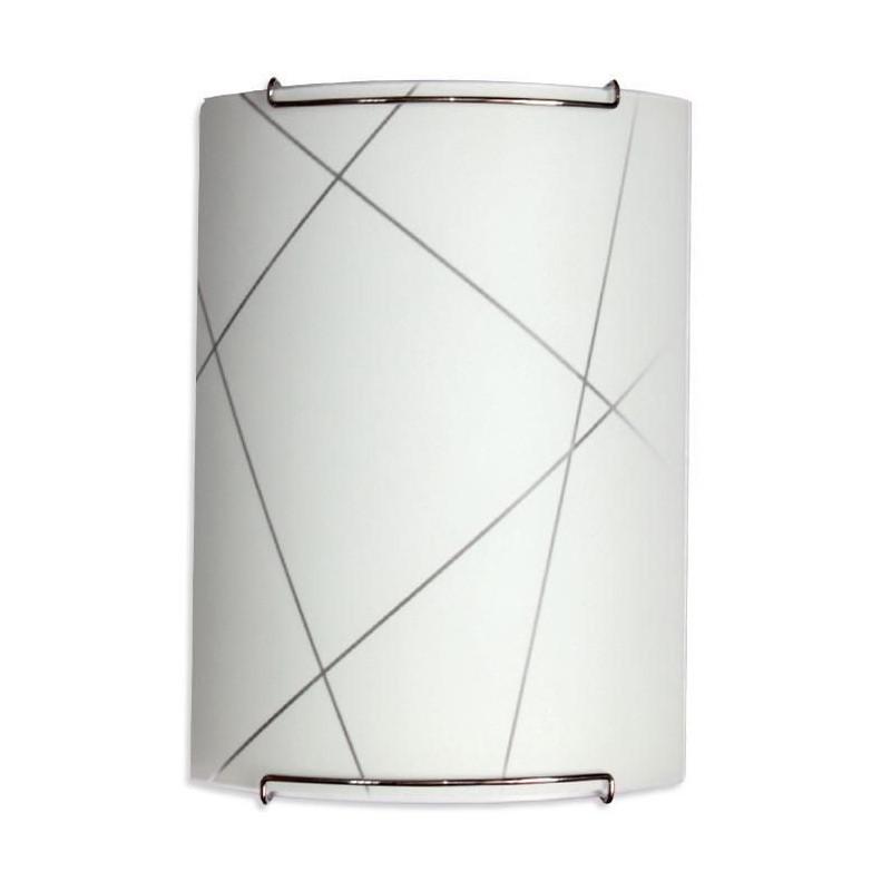 Светильник 210*245 Контур НББ 21-60 М21 матовый белый/крепеж хром MAXEL 02847