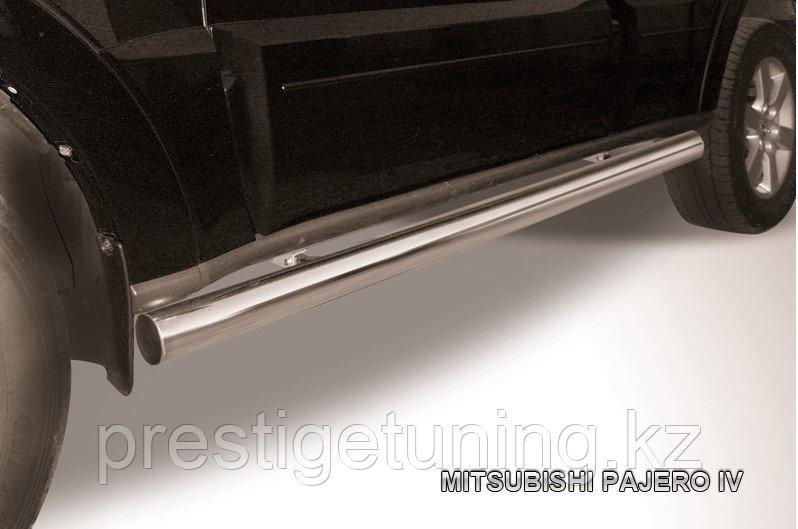 Защита порогов d76 труба Mitsubishi Pajero IV