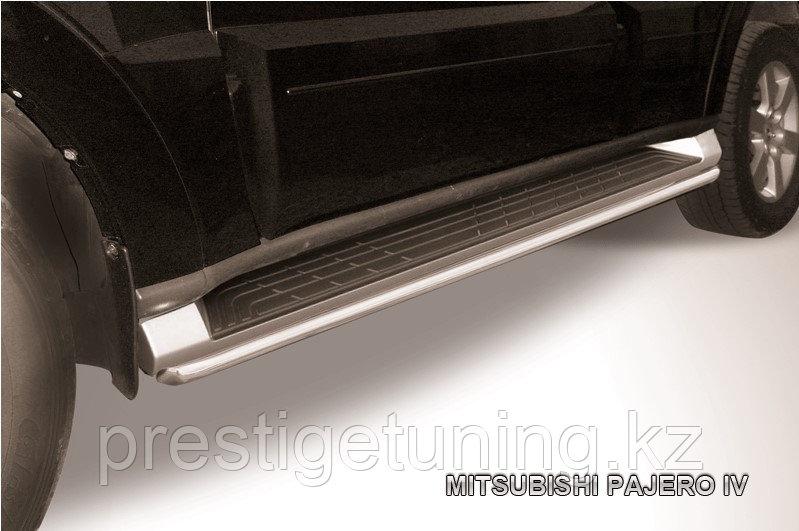 Защита штатного порога d42 Mitsubishi Pajero IV