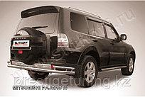 Защита заднего бампера d76+d42 двойная Mitsubishi Pajero IV