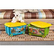 Ящик для игрушек на колесах с аппликацией, Бытпласт 4313809