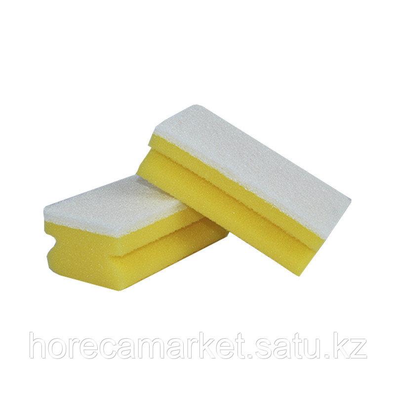 Губка для мытья посуды белая 7х14 (10 шт)
