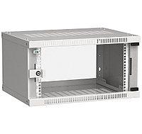 ITK Шкаф настенный LINEA WE 6U 600х450мм дверь стекло серый