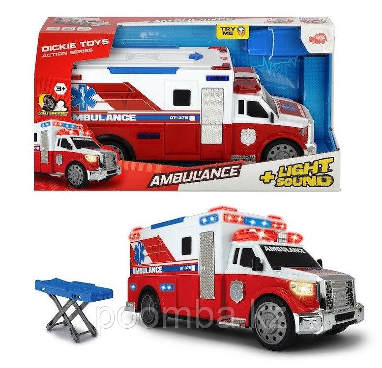 Машинка скорой помощи моторизированная 33 см свет звук Dickie Toys