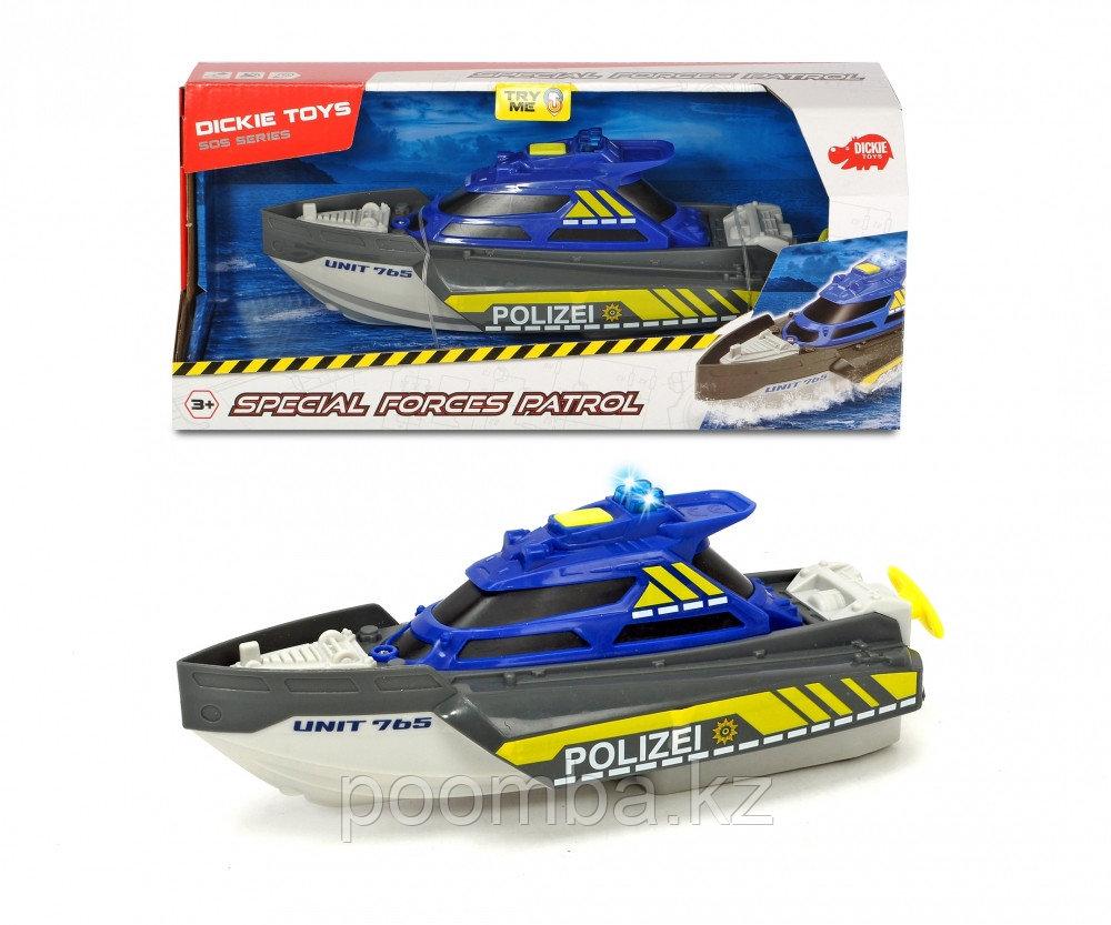 Полицейский катер 24см свет звук Dickie Toys