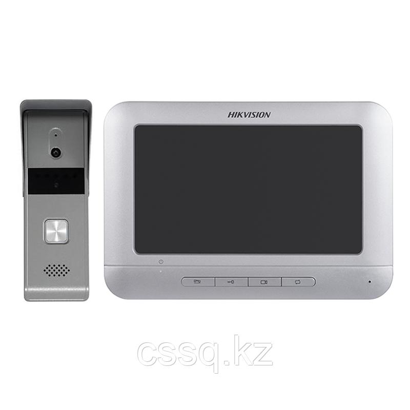 "Hikvision DS-KIS204 Комплект DS-KB2411-IM (вызывная панель) + DS-KH2220-S (монитор 7"")"