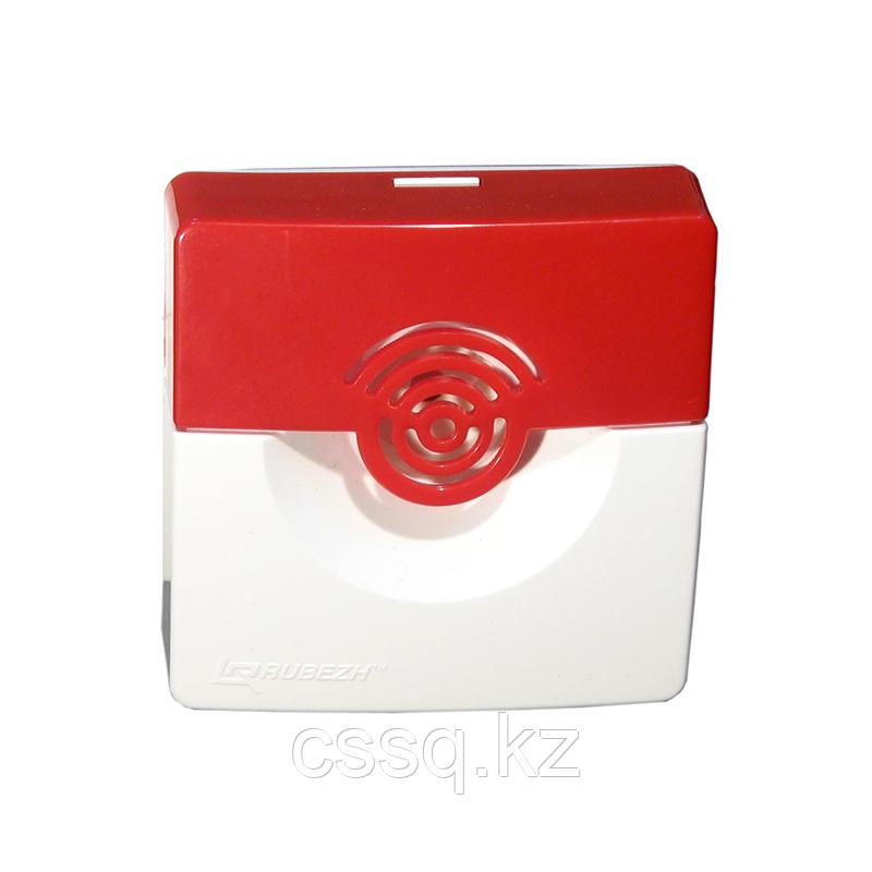 Рубеж ОПОП 2-35 (бело/красный) Оповещатель охранно-пожарный звуковой