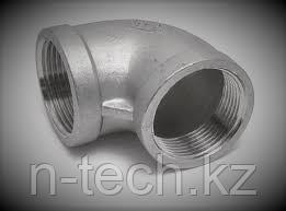 DN20 (90 градусов) Отвод резьбовой (нерж.)