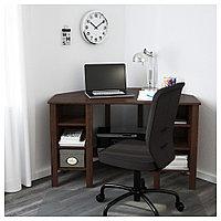 БРУСАЛИ Угловой письменный стол, коричневый, коричневый 120x73 см