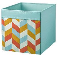 Коробка ДРЁНА разноцветный, 33x38x33 см ИКЕА, IKEA, фото 1