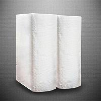 Бумажные полотенца Z 200 листов в пакете, 28 гр/м, 1 слой, белые
