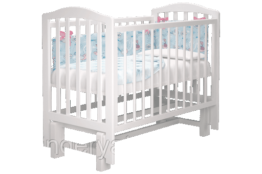 Кроватка детская Пикколо 2 (белая, сл.кость)