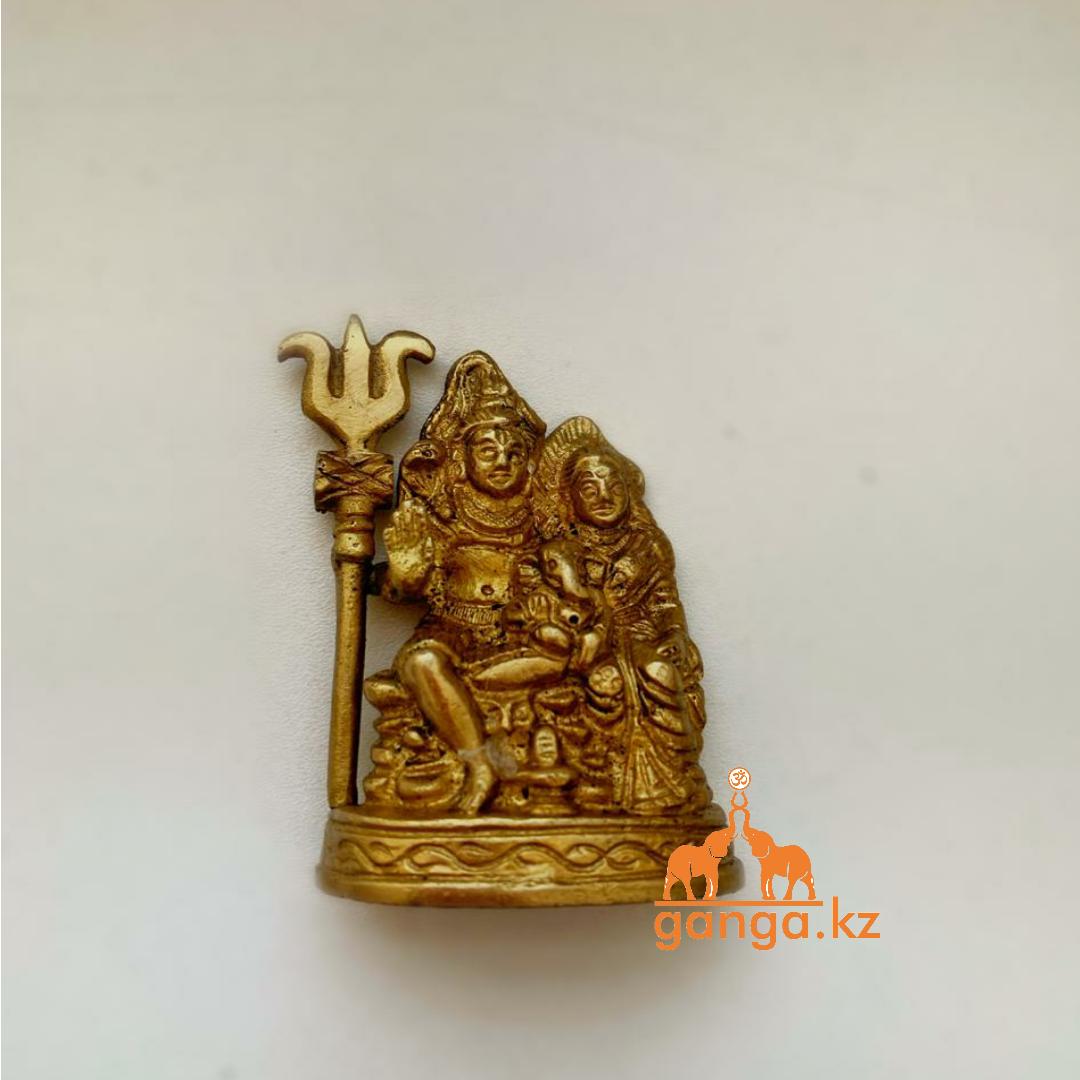 Статуэтка Шива-Парвати-Ганеша, 8 см