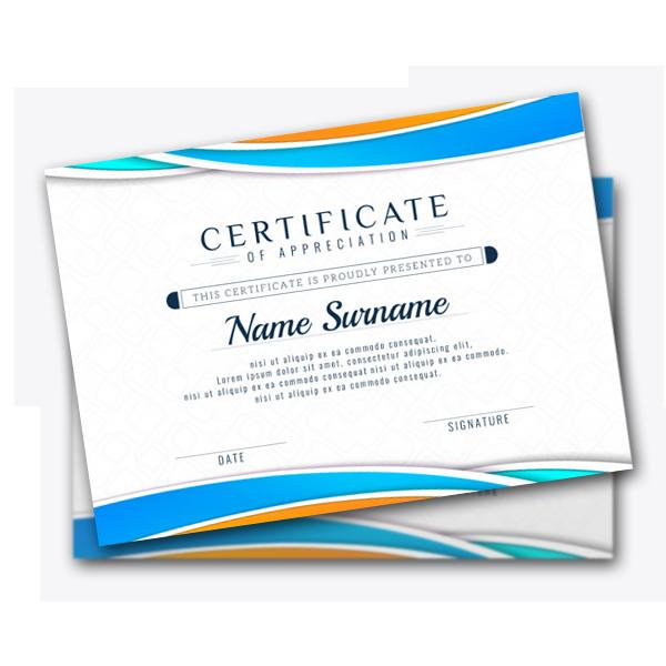 Распечатка сертификатов