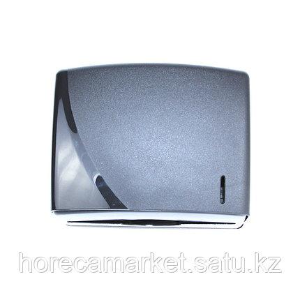 Диспенсер бумажных полотенец C-V-укладки черный, фото 2