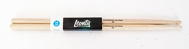 Барабанные палочки, граб, деревянный наконечник, Leonty L5AW Hornbeam Natural 5A