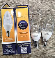 Светодиодная LED лампа C37/SXE 6W  Eco-svet, фото 1