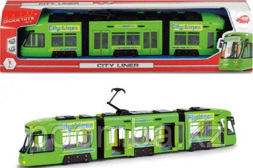 Игрушечный Городской трамвай 46 см зеленый Dickie Toys