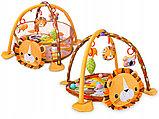 Развивающий коврик 3 в 1 лев activity gym and ball pit  с шариками, фото 3
