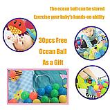 Детский развивающий коврик 3 в 1 activity gym and ball pit c шариками, фото 7