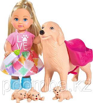 Кукла Еви 12 см с собачкой и щенками Simba