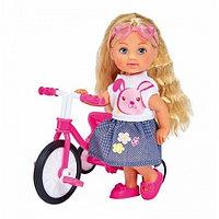 Кукла Еви 12 см на трехколесном велосипеде Simba