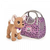 Плюшевая собачка 20 см Chi-Chi love Путешественница с сумкой-переноской Simba