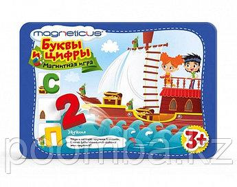 Игровой набор - Буквы и цифры в металлической коробке