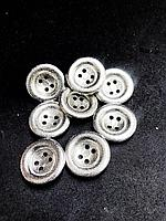 Декоративные пуговицы 30 мм,серебро