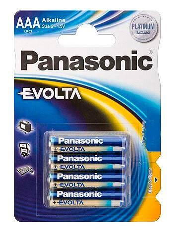 Батарейки Panasonic LR03 EVOLTA BL4