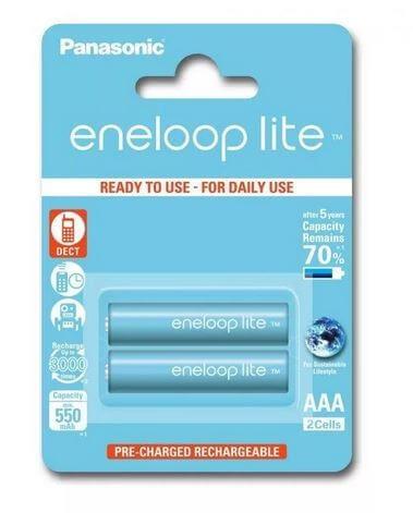 Аккумулятор Panasonic eneloop lite BK-4LCCE/2BE 550mAh AAA R03 BL2
